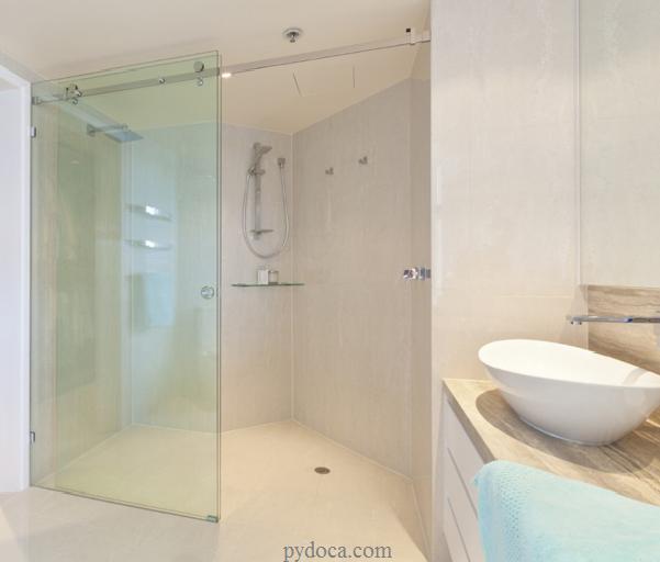 Phòng tắm kính cường lực cửa trượt