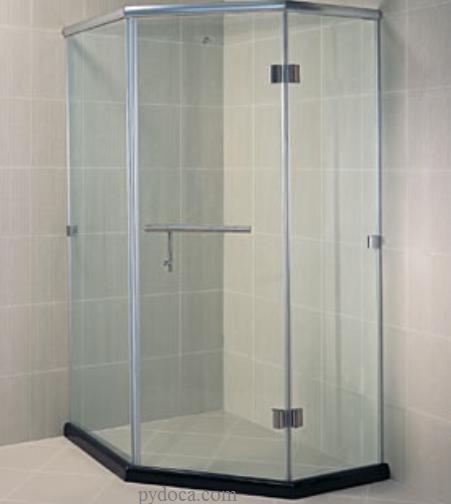 Phòng tắm kính cường lực vát góc