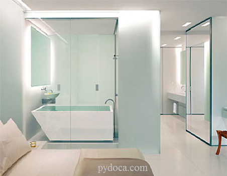 Vách tắm kính cường lực mang đến sự sang trọng cho ngôi nhà bạn