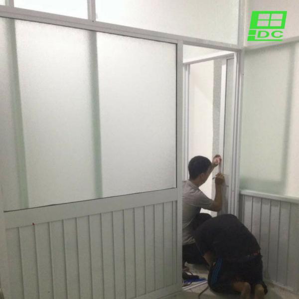 Vách ngăn nhôm kính phòng ngủ