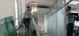 PYDOCA thi công lắp đặt VÁCH NGĂN VĂN PHÒNG cho công ty VINA tại công viên Phần mềm Quang Trung quận Gò Vấp