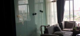 PYDOCA LẮP KÍNH ỐP TƯỜNG tại chung cư cao cấp Golvel quận 4 TPHCM