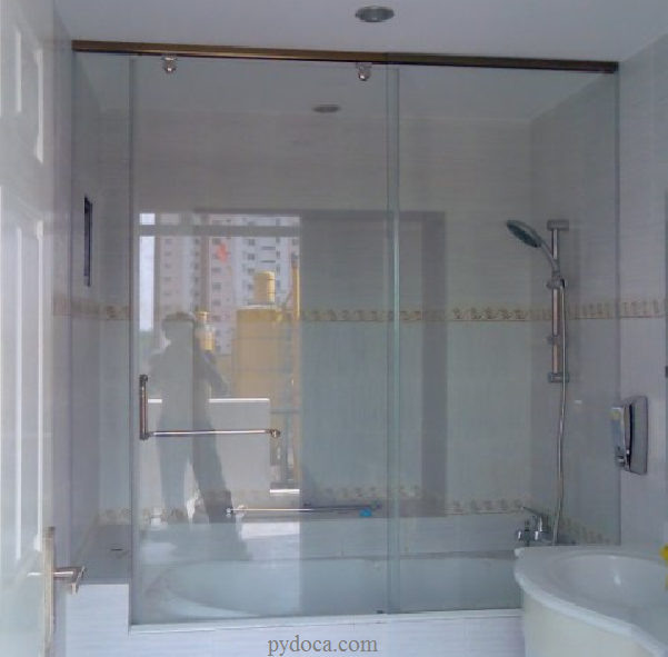 Phòng tắm kính cửa trượt
