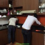 Lắp kính màu ốp bếp tại quận Bình Thạnh