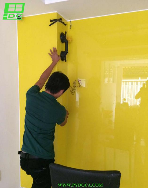Kỹ thuật lắp kính ốp tường