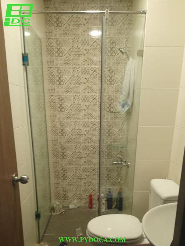 Bộ 2: Vách tắm kính cửa mở