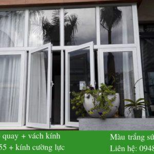 Mẫu cửa sổ nhôm Xingfa màu trắng