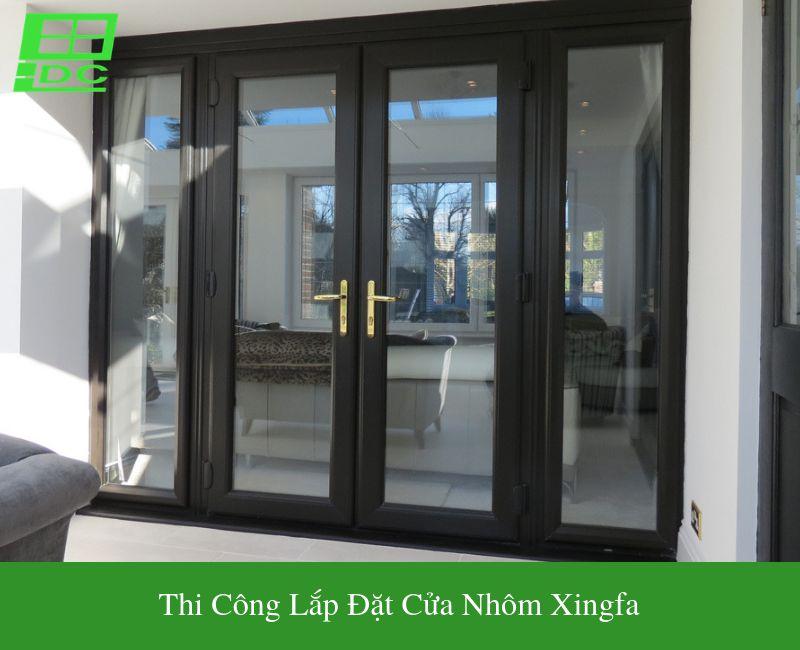Thi công lắp đặt cửa nhôm Xingfa